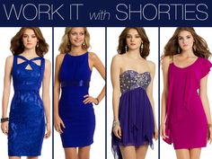Camille La Vie short homecoming dresses in fun, sassy fashion styles