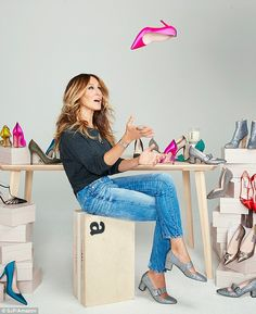 'Hit the jackpot': The fashionista turned shoe designer revealed on the official SJP Collection Instagram page on Friday that her footwear is now available on Amazon