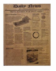 Packnwood UK - Brown Kraft Greaseproof Paper Newspaper patern