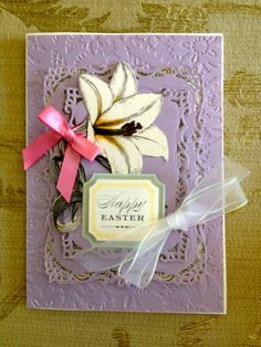 """Handmade Anna Griffin Vintage """"Happy Easter"""" Greeting Card   eBay"""