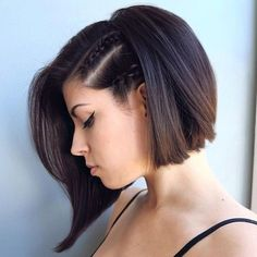 bob haircut for fine hair that will inspire you to change your appearance to be more feminine. Let us examine the best short bob hairstyles for fine hair. Prom Hairstyles For Short Hair, Short Hair Updo, Diy Hairstyles, Short Hair Cuts, Hairstyle Ideas, Hair Ideas, Bob Hairstyle, Hairstyles 2018, Wedding Hairstyles