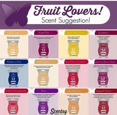 Scentsy fragrance collection for fruit lovers,  #scentsyinelnora www.jjackson.scentsy.ca