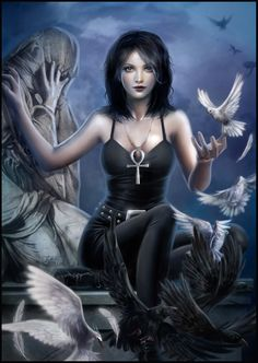 The sound of her wings by ~dark-spider on deviantART (Death, from the comic series The Sandman by Neil Gaiman)
