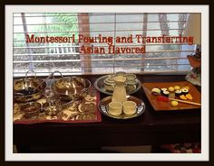 Asian Inspired Montessori Pouring and Transferring from Enchanted Schoolroom