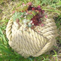 rope plant container
