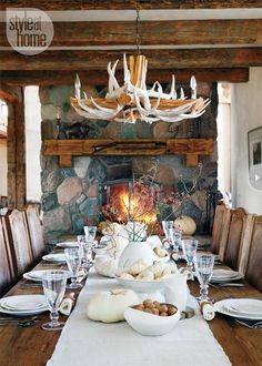 A rustic fall tabletop {PHOTO: Donna Griffith}