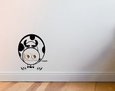 Cow Wall Decal Cool and Funny Socket Guard Cow Office & Desk Deco Workplace Wall Stickers Cow Art Street Art Cow Decor Home Decor
