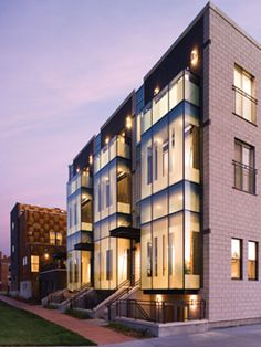 Merchant Row Brownstones Residential development in Denver, CO by Christian and Associates Architects