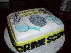 Charity's Sunshine Sweets:  CSI CAKE