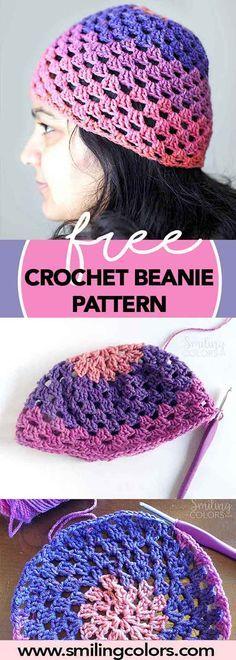 free crochet beanie pattern, yarn stash buster pattern, crochet hat.