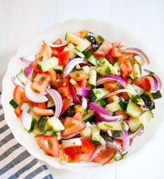 mediterraneansalad - great with fish or add avocado or beans for protein