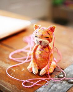 Make a cute handmade cat with this free crochet cat pattern found on Ravelry