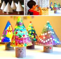 """New Post has been published on http://www.amazinginteriordesign.com/paper-plate-christmas-trees-simply-adorable/ """"These Paper Plate Christmas Trees are Simply Adorable Image via: pink stripey socks Christmas is round the corner and kids love to do..."""