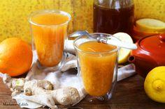 Herbata pomarańczowa z imbirem na odporność i walkę z przeziębieniem, grypą i innymi zimowymi dolegliwościami. Wspaniała!