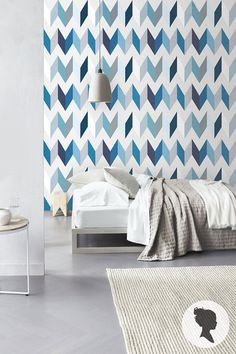 Peel and Stick Chevron Pattern Removable Wallpaper Z026 (wallpaper = color scheme inspiration for a quilt)