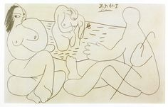 #picasso http://www.ipoxstudios.com/the-late-drawings-of-picasso/  We have another great article, which reveals some rare drawings by Pablo Picasso. He's considered a master, and it really inspires me to see the sophistication he infuses into his simple drawings. Let's check out these late drawings of Mr. Picasso!