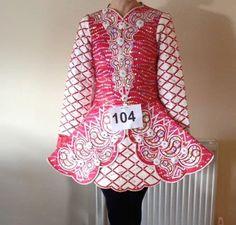 Divine Red Gavin Doherty Irish Dance Dress Solo Costume For Sale