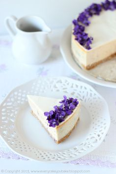 Every Cake You Bake Cheesecake violet