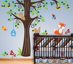 Room Decals For Kids  Animals in the Wood  Children by evgieNev, $135.00