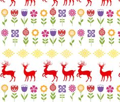 Sweden_Spring_Spoonflower fabric by trixiepop on Spoonflower - custom fabric