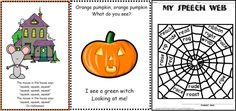 Halloween Articulation Freebies (Printable Song Cards / Worksheets) from Perkilou Products - - Pinned by #PediaStaff.  Visit http://ht.ly/63sNt for all our pediatric therapy pins