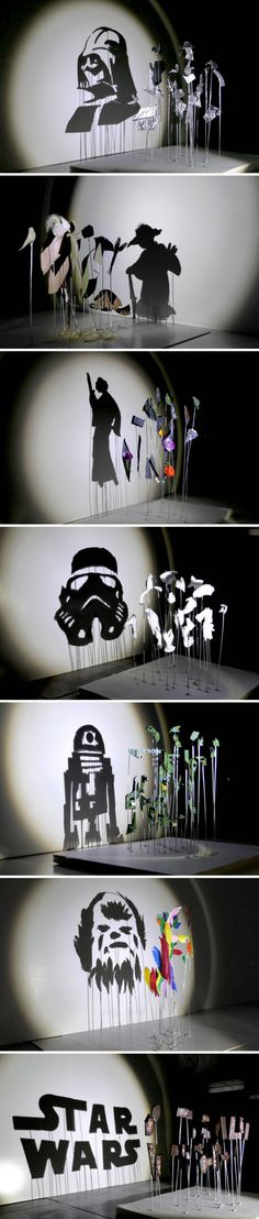 Star Wars shadow art by artist Red Hong Yi