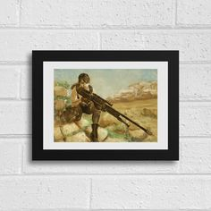 Sniper Quiet Metal Gear Solid V Inspired Unframed Art Print by SefieRosenlund by Sefie Rosenlund @ Etsy. Life Is Strange, Weird World, Revolver Ocelot, Drawing Tablet, Wacom Intuos, Metal Gear Solid, Sign Printing, A3
