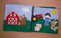 Farm Quiet Book Page Felt Story Board - Build a Personalized Busy Book Activity Book Busy Bag for Toddler & Preschoolers by BusyBookBuilders on Etsy https://www.etsy.com/listing/239251267/farm-quiet-book-page-felt-story-board