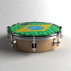 Brasil Tambourine 3D Model - 3D Model