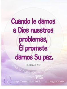 Cuando le damos a Dios nuestros problemas, Él promete darnos Su paz.