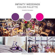 It's #weddingwednesday, and we love this color palette from Michelle & Christopher's wedding last summer at our venue! : IBW Photography #mynashvillewedding #infinity weddings #bridgebuildingnash #exploreinfinitenashville #nashvilleweddings
