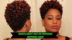 Bantu Knot Out on Tapered Natural Hair - How to   MissKenK - YouTube