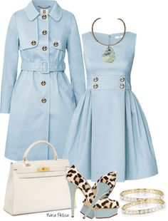"""""""Pale Blue and White"""" by nuria-pellisa-salvado ❤ liked on Polyvore"""