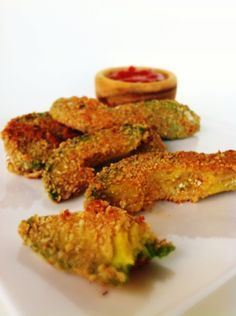 avocado fries! obviously pretty high in fat, but the recipe is all-natural, whole foods - so in moderation, a good addition to a light dinner :-)
