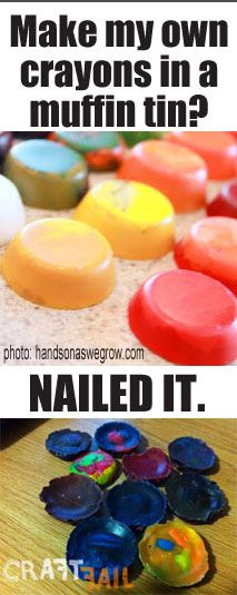This made me laugh. Have you tried upcycling your crayon bits and pieces? Did it turn out?