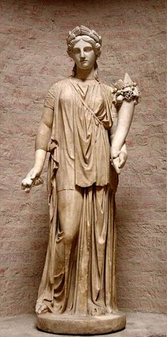 """Artemis, copy after a Greek original of the 4th century BC (so-called """"Dresden Artemis"""")."""