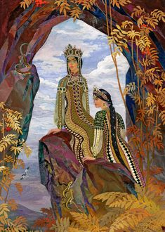 """The Mistress of the Copper Mountain"" - Tales of Pavel Bazhov, illustrated by Vyacheslav Nazaruk 