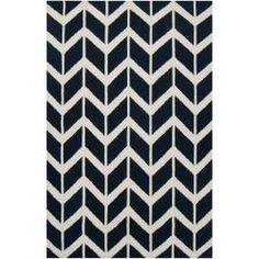 Jill Rosenwald Hand-woven Black Backoo Wool Rug (8' x 11')