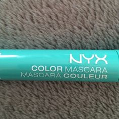 NYX green mascara eyebrow gel NYX mint julep (green blue color) gel for eyebrows and as a mascara. Used once. Purchased recently. NYX Makeup Mascara