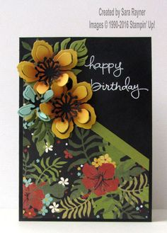 Botanical birthday card, using supplies from Stampin' Up! www.craftingandstamping.com #stampinup