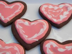 Red Couch Recipes: Royal Icing Chocolate Valentine Cookies