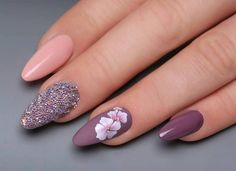 70 nail design inspiration for your nails - Fashion Ruk Spring Nail Art, Spring Nails, Summer Nails, Cute Acrylic Nails, Cute Nails, Pretty Nails, Nail Effects, Luxury Nails, Fall Nail Designs