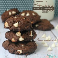 Fudgy White Chocolate Chip Cookies Recipe - use fresh ingredients, butter, and REAL white chocolate chips for a moist and delicious cookie - great gift
