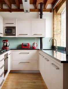 [ Simple Kitchen Design Ideas Interior For Small Space Designs ] - Best Free Home Design Idea & Inspiration Simple House Interior Design, Simple Kitchen Design, Kitchen Cabinet Design, Interior Design Kitchen, Kitchen Cabinets, Kitchen Decor, Kitchen Ideas, Wall Cupboards, Kitchen Tables