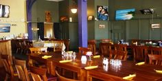Star & Garter Restaurant Garter, Conference Room, Restaurant, Stars, Table, Furniture, Home Decor, Decoration Home, Room Decor