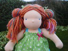 Mikala a 12 Waldorf Steiner Doll  MADE and by DebsSteinerDolls, $135.00