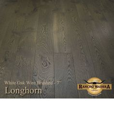 White Oak Rancho Madera Longhorn 1/2 x 7 x 1-7' Select 3mm Wear Layer Handscraped- Engineered Prefinished Flooring