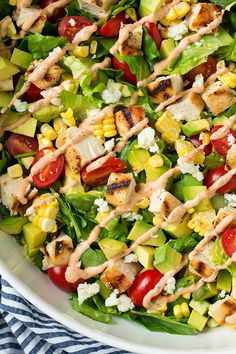 Avocado and Grilled Chicken Chopped Salad with Chipotle-Lime Ranch - LOVED this salad! Definitely will make it again.