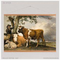 De stier Textielposter