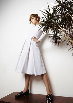 SS 2013 #ss13 #london #fashion #awake #nataliaalaverdian #trends #smart #white #dress